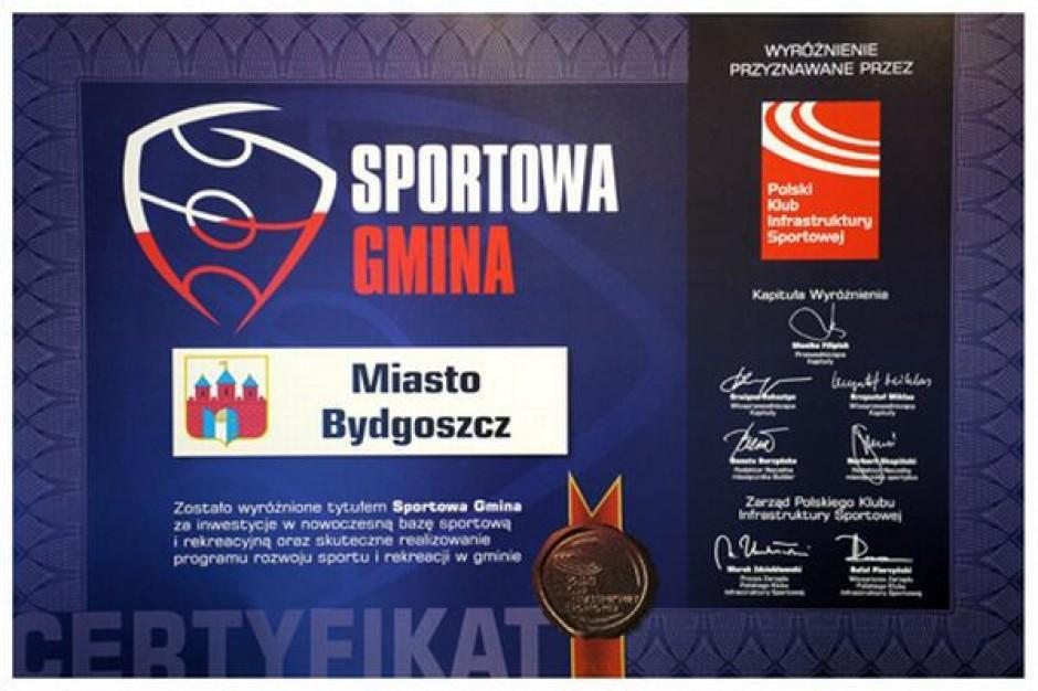Dyplom za sport dla Bydgoszczy