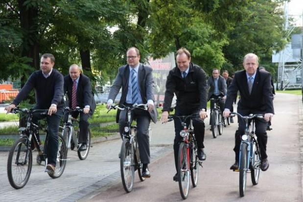 Samorządowcy na rowerach