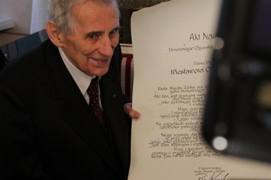 Wiesław Chrzanowski honorowym obywatelem Lublina