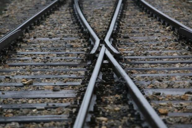 Samorządowcy na budowie kolei