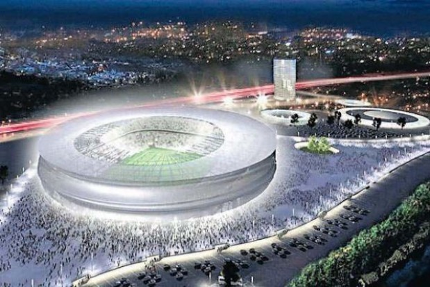 Na Stadionie Narodowym zawisła wiecha