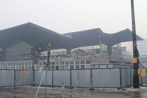 Stary dworzec całkowicie rozebrany