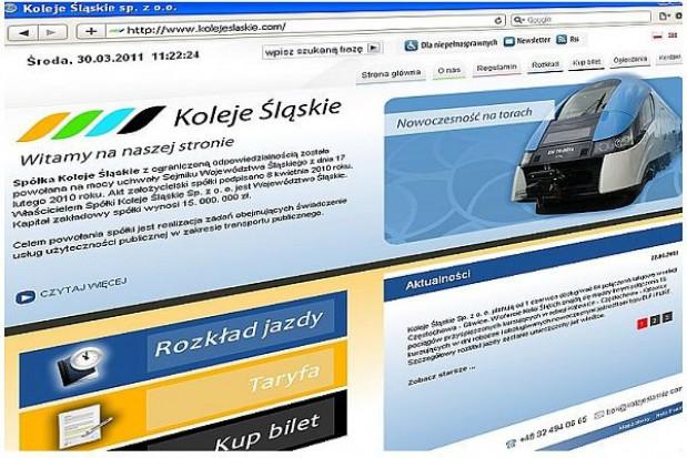 Koleje Śląskie ruszają, ale w internecie