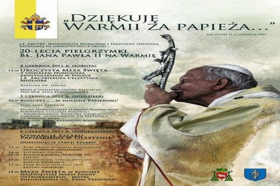 Szlak papieski w Olsztynie