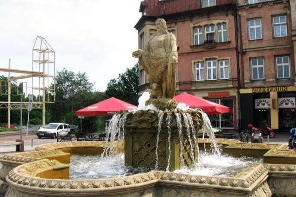 Mysłowice latem z nieczynną fontanną?