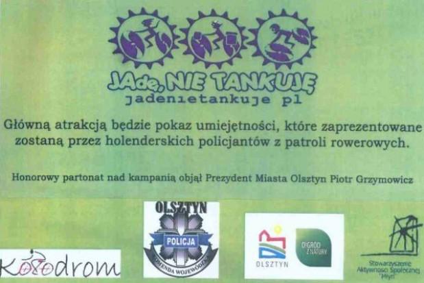 Holenderska policja rowerem po Olsztynie