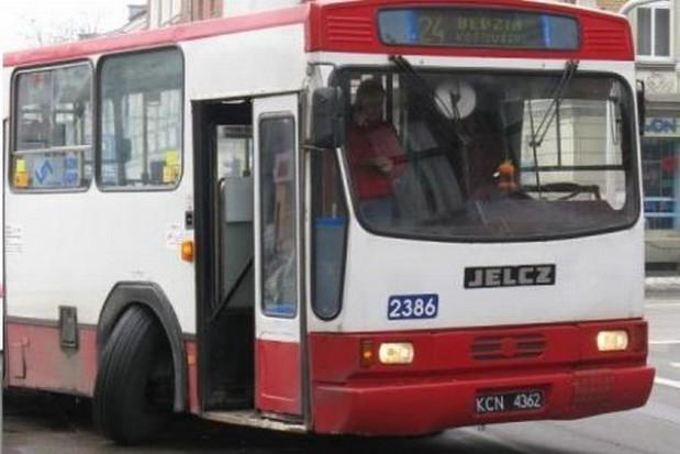 Pożar autobusu miejskiego w Siemianowicach