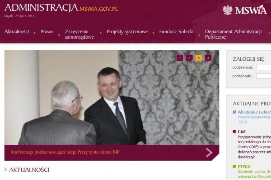 Nowa strona o administracji MSWiA