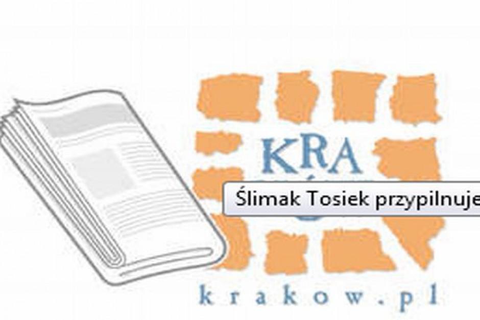 Ślimak Tosiek stróżem porządku w Krakowie