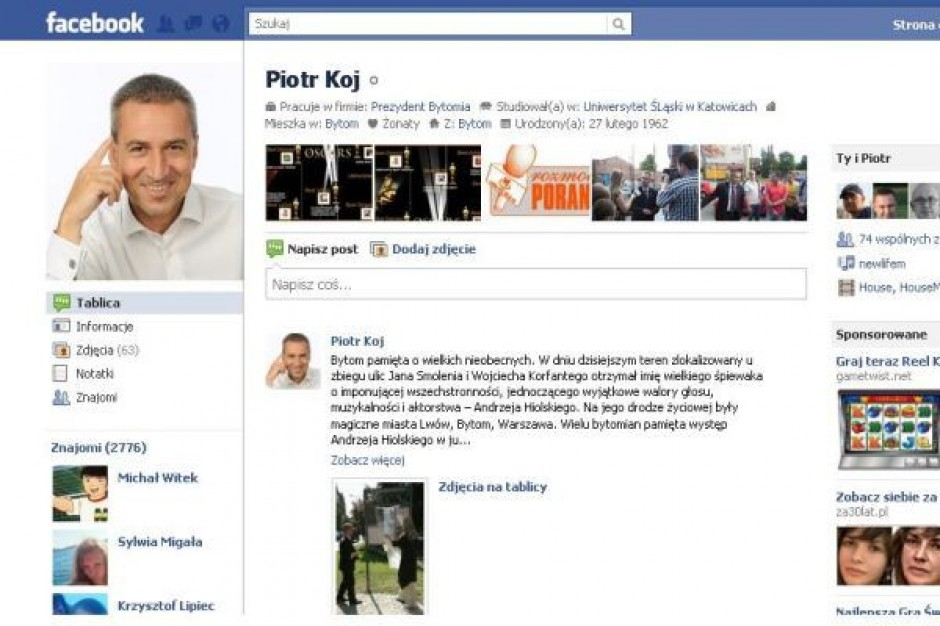 Profile na Facebooku dla radnych wojewódzkich