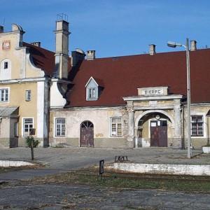 Dworzec w Sierpcu (fot.wikipedia.org)