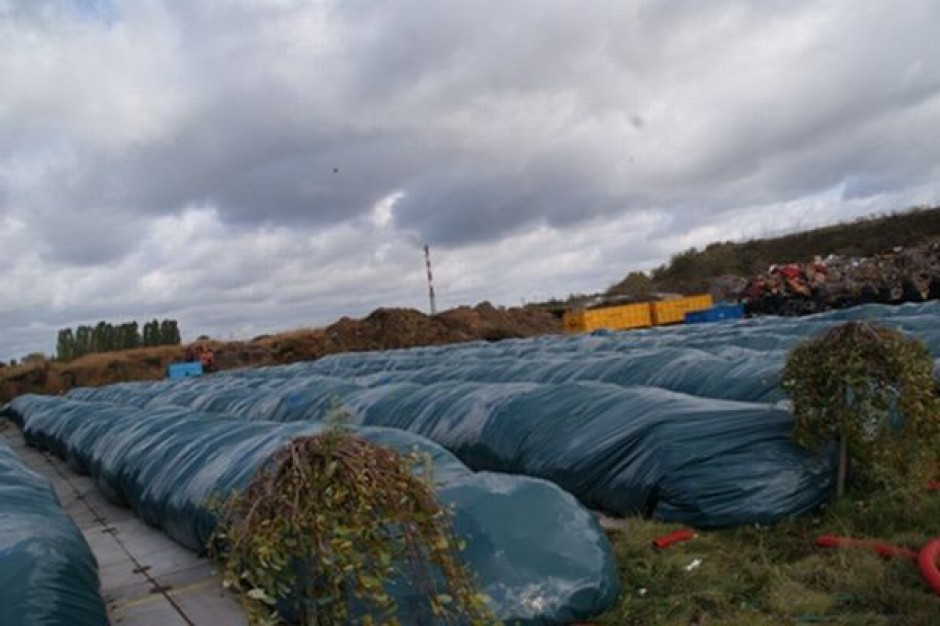 Ekologiczne rękawy z odpadami w Inowrocławiu