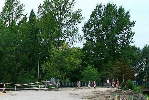 Rozbiórka wiaduktu w Sosnowcu