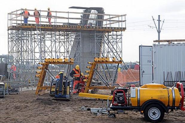 Bruksela na budowie toruńskiego mostu