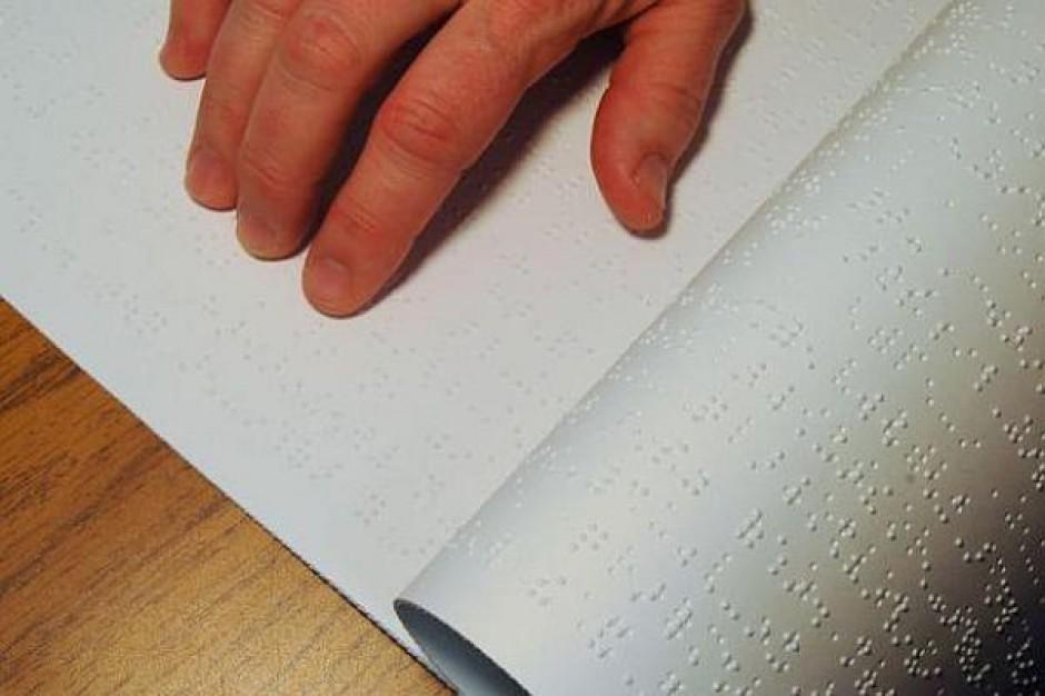 Kłopot z podręcznikami dla niewidomych