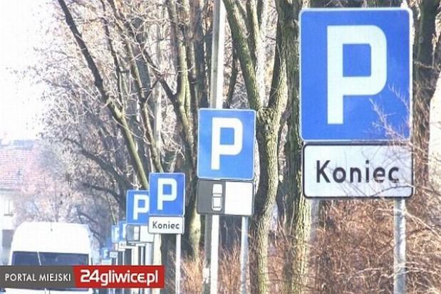 Las znaków drogowych w Gliwicach