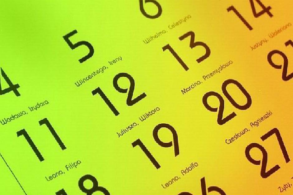 Kiedy będziemy pracować, a kiedy odpoczywać w 2012 roku