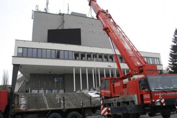 Zamontowano telebim na  Rybnickim Centrum Kultury