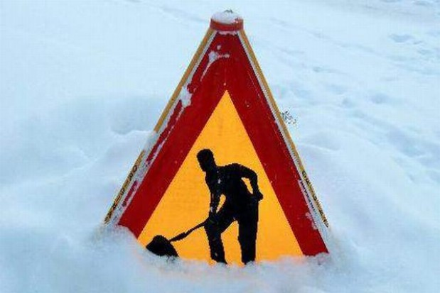 Zimowe prace na drogach