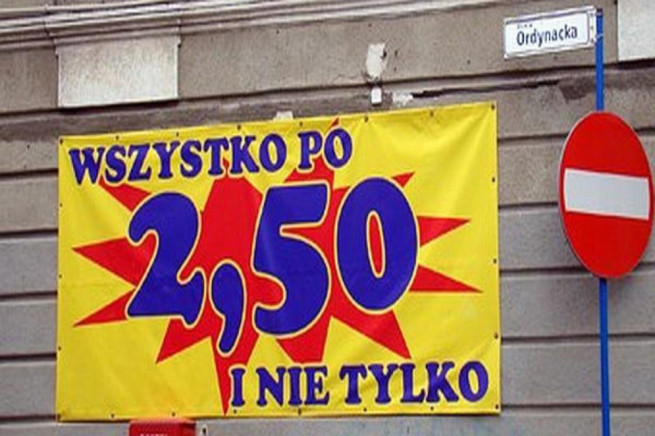 Rynek w Krośnie - porządki w reklamach