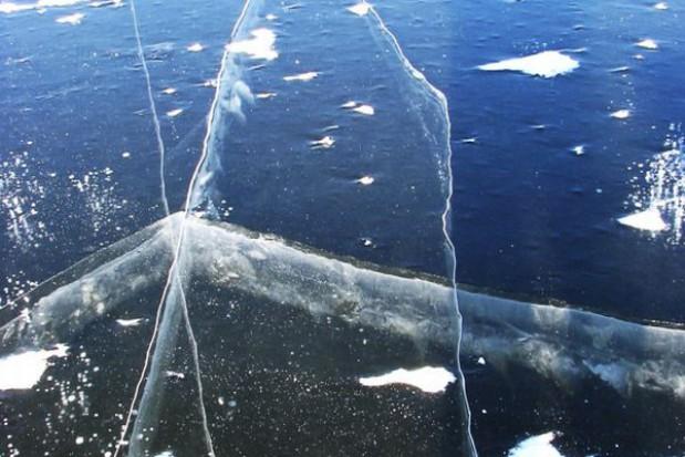 Uwaga na lód na mazurskich jeziorach