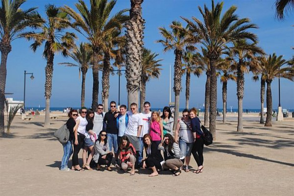 Uczniowie z Sosnowca na praktykach w Hiszpanii