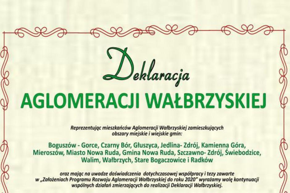 Wałbrzych przyjął deklarację aglomeracyjną