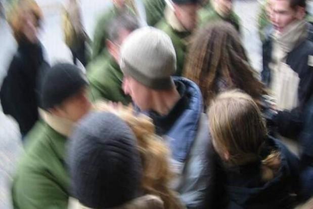 Manifestacja w obronie pracowników socjalnych