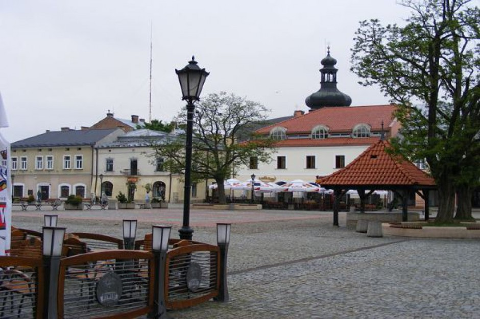 Szklane miasto ze szczególnym centrum