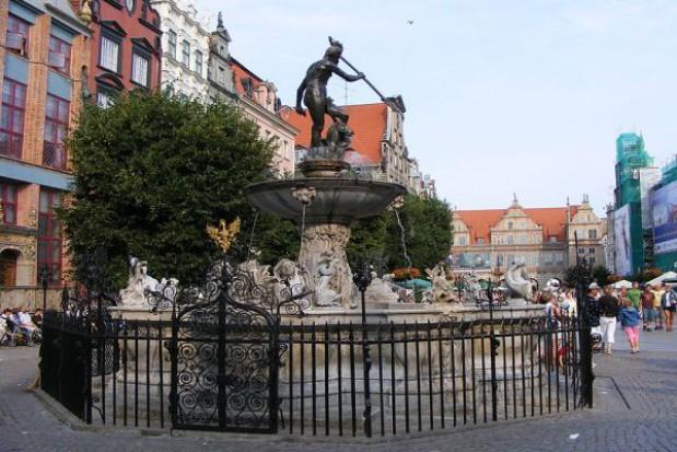Dodatkowa ochrona przy gdańskiej fontannie