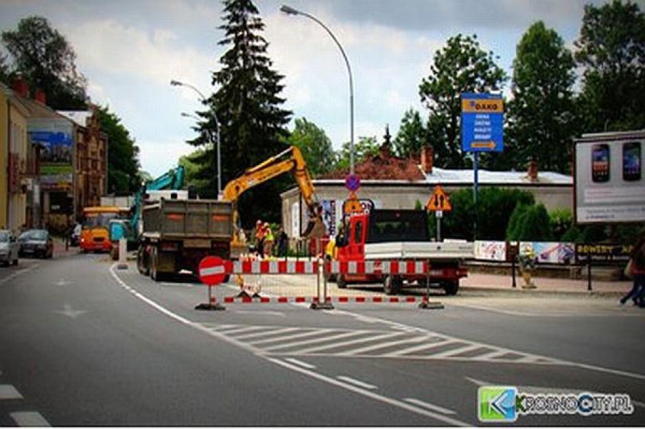 Prace kanalizacyjne utrudniają przejazd