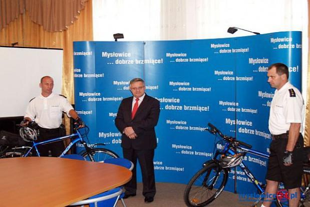 Strażnicy w Mysłowicach przesiedli się na rowery