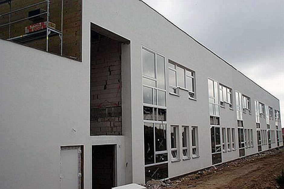 Szkoła w Mierzynie - na placu budowy