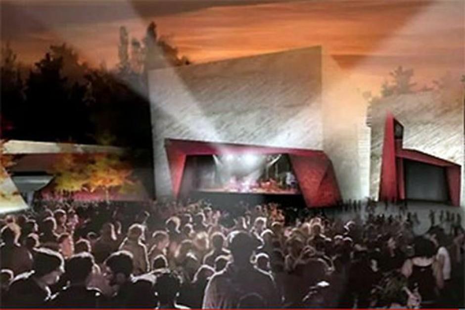 Duże zaintersownie budową sali koncertowej