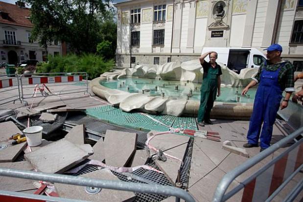 Krakowska fontanna nie działa