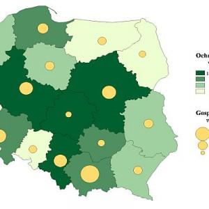 Nakłady na środki trwałe na ochronę środowiska i gospodarkę wodną według województw w 2011 r. (ceny bieżące).