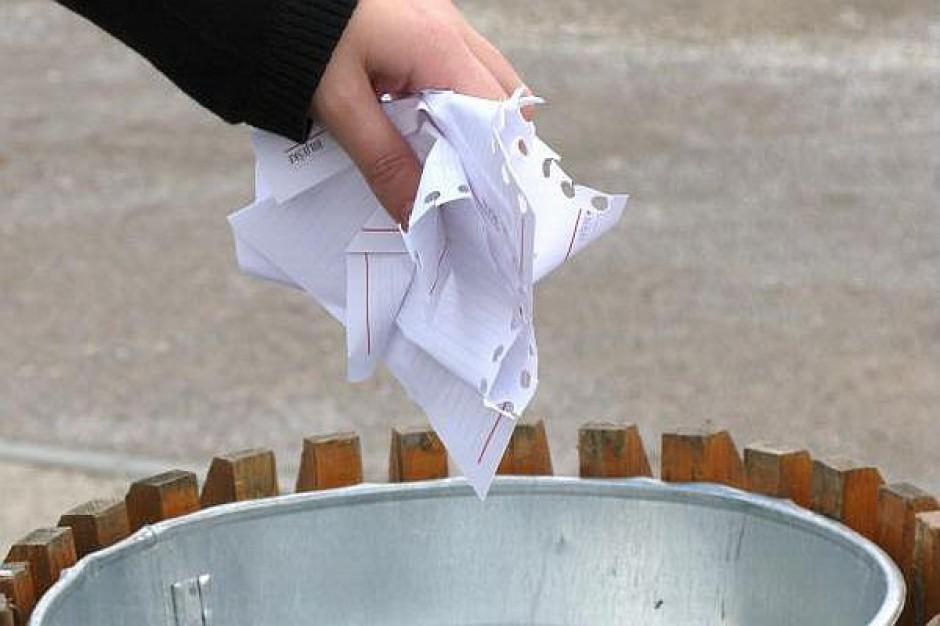 Odpady w podzielonej na sektory gminie