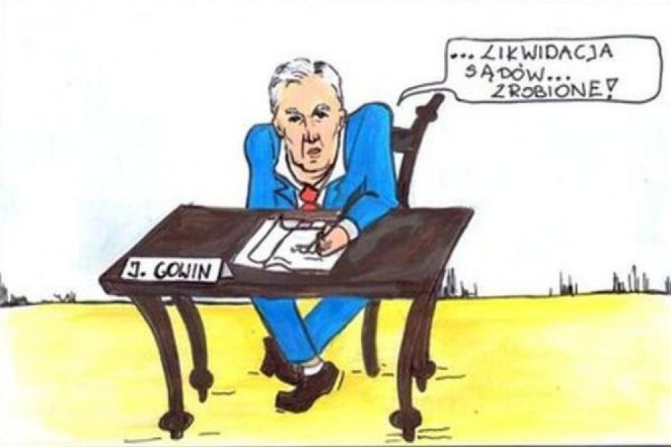 PSL zrobił komiks na Gowina. Przez sądy