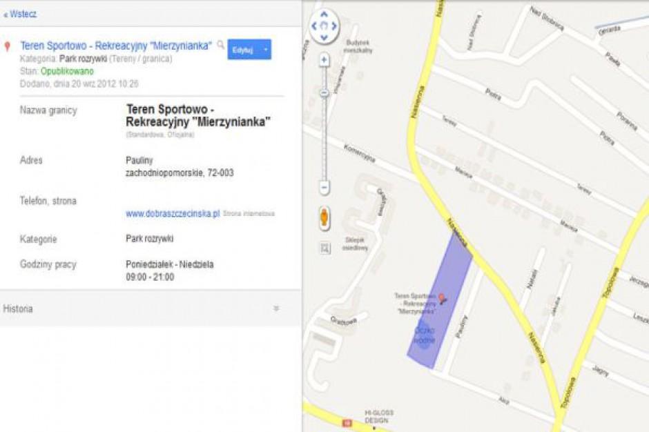 Nowa mapa Mierzyna w Google Maps