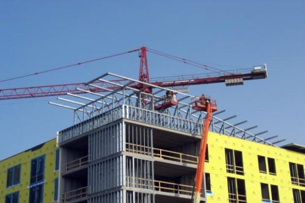 Wiecha na budowie komunałek w Poznaniu