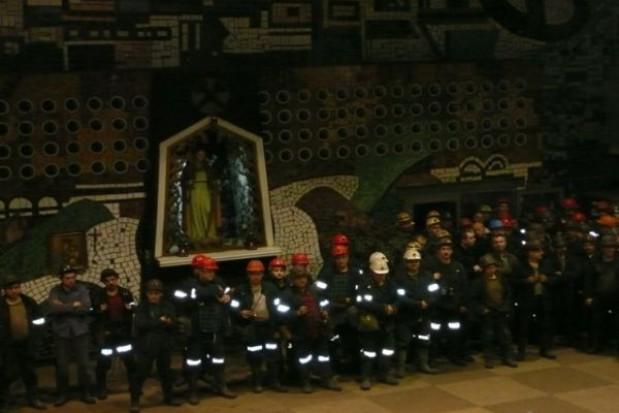Grażyna Dziedzic spotkała się z górnikami kopalni Śląsk