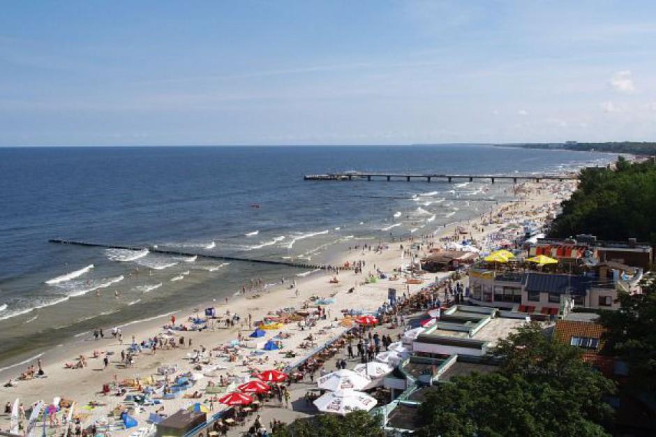 Umocniono brzeg morski w Kołobrzegu
