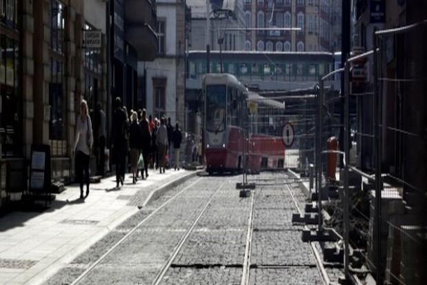 Tramwaje wracają na ul. 3 maja w Katowicach