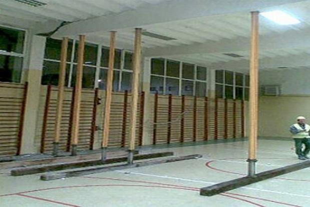 Sufit w toruńskiej szkole zabezpieczony
