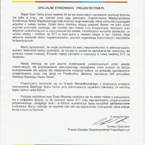 Stanowisko Projektbytom.pl
