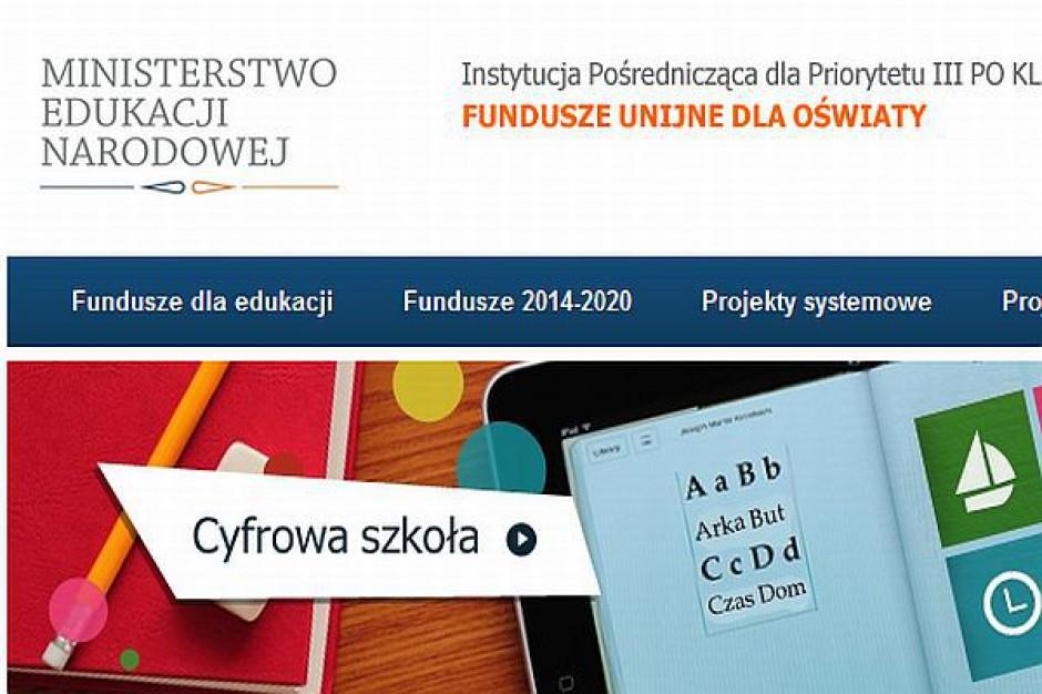 Strona o funduszach unijnych dla oświaty