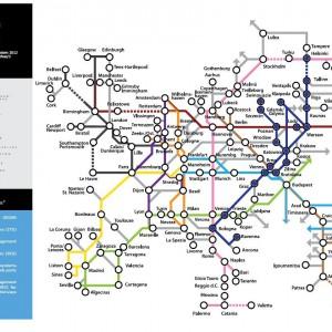 Planowany przebieg Korytarza obrazuje mapa przygotowana przez Komisję Europejską