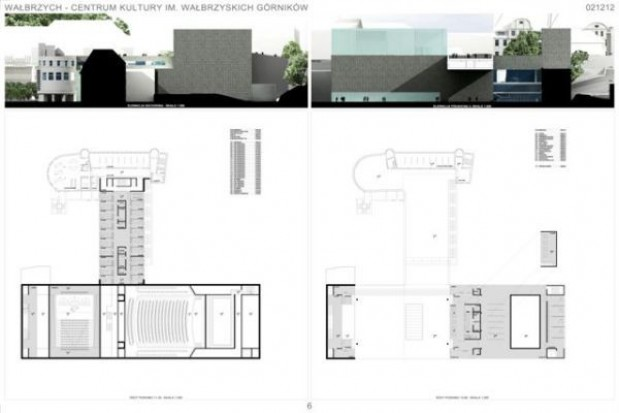 Przyszłe wałbrzyskie centrum kultury z projektem