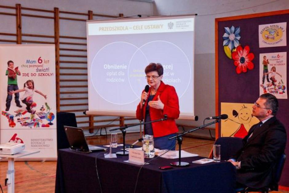 Szumilas zachęcała do wysłania 6-latków do szkół