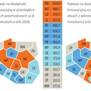 Wartości wskaźników wejścia (zasoby) – ranking.